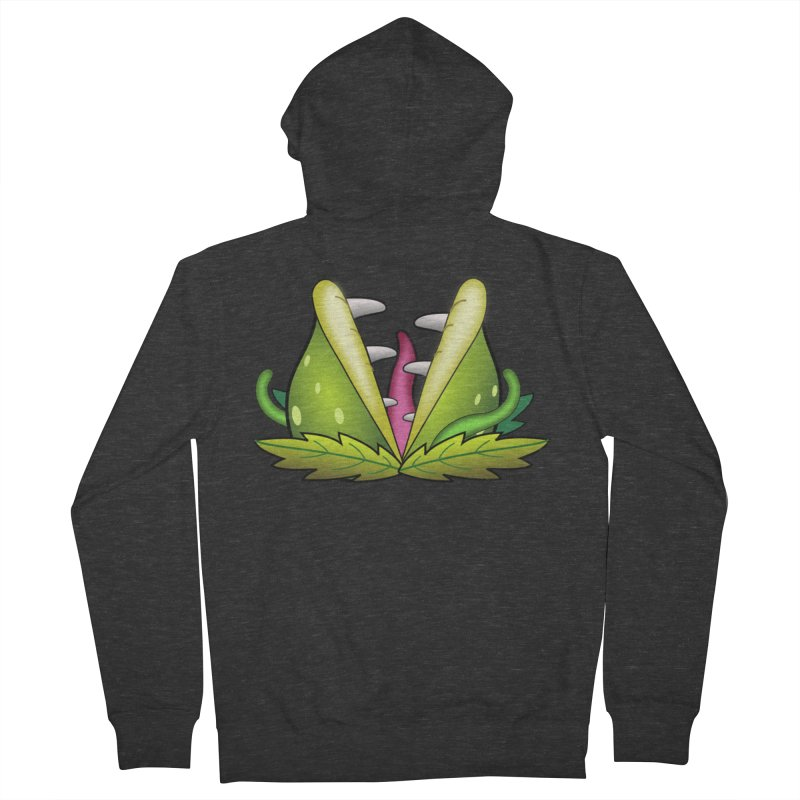 Mario Piranha Plant Women's French Terry Zip-Up Hoody by Shirt For Brains