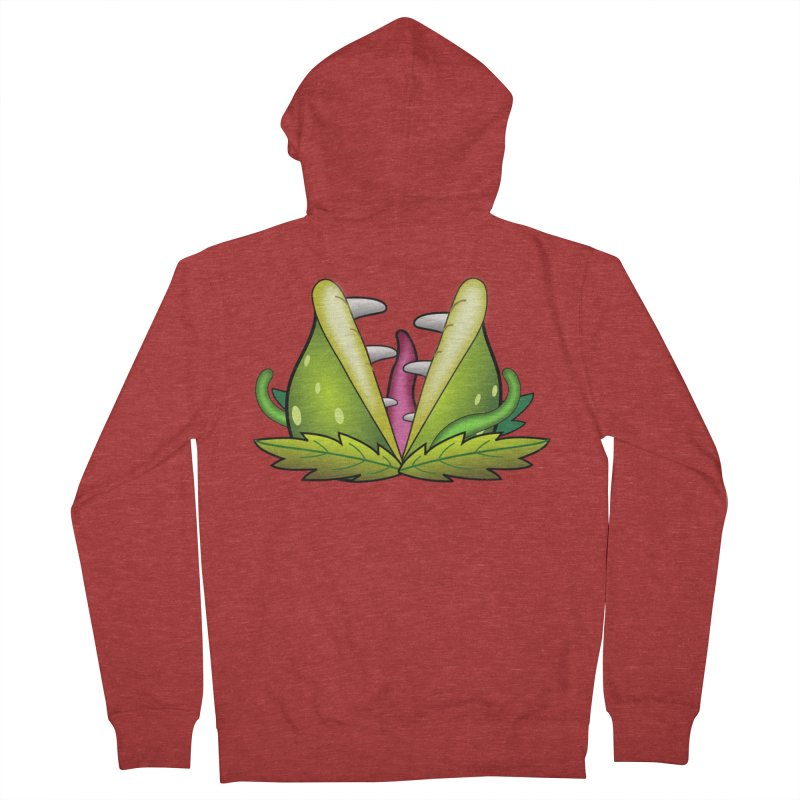 Mario Piranha Plant Men's French Terry Zip-Up Hoody by Shirt For Brains