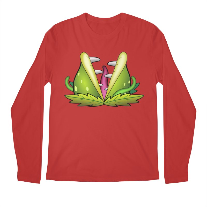 Mario Piranha Plant Men's Regular Longsleeve T-Shirt by Shirt For Brains
