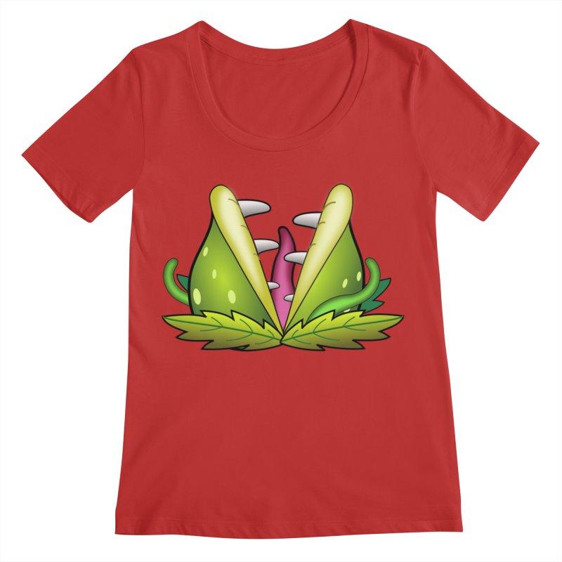 Mario Piranha Plant Women's Regular Scoop Neck by Shirt For Brains