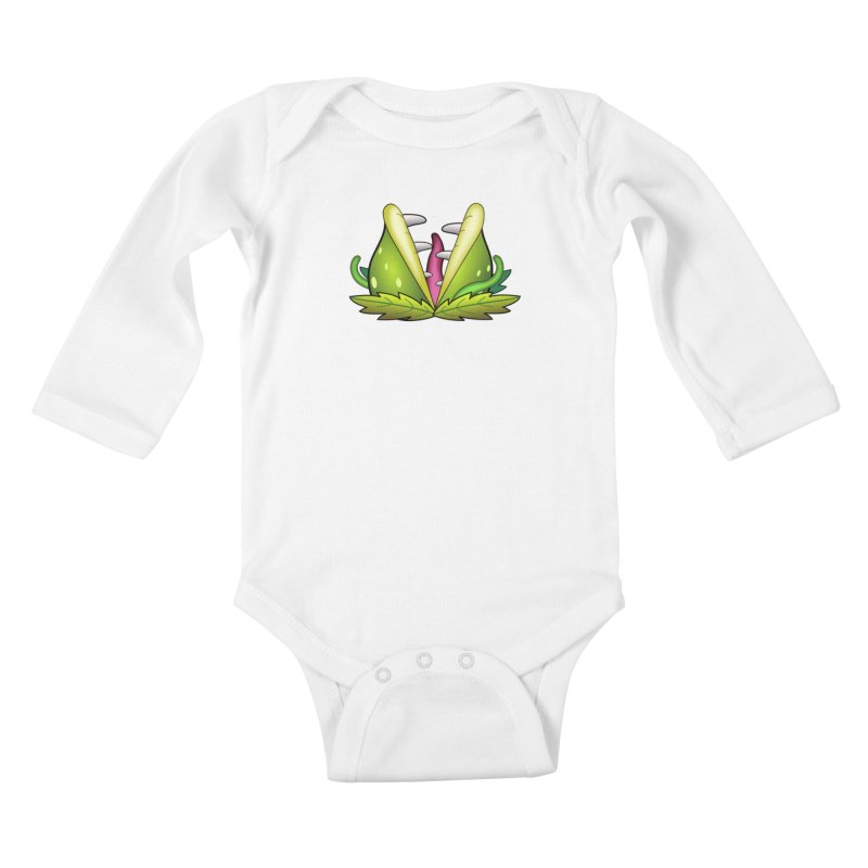 Mario Piranha Plant Kids Baby Longsleeve Bodysuit by Shirt For Brains