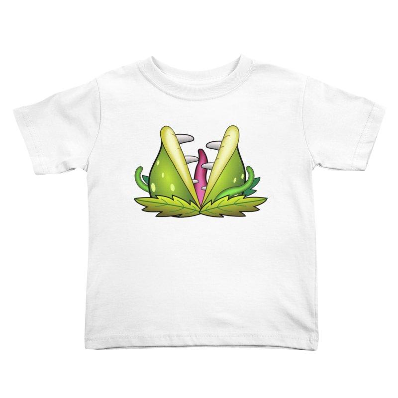 Mario Piranha Plant Kids Toddler T-Shirt by Shirt For Brains