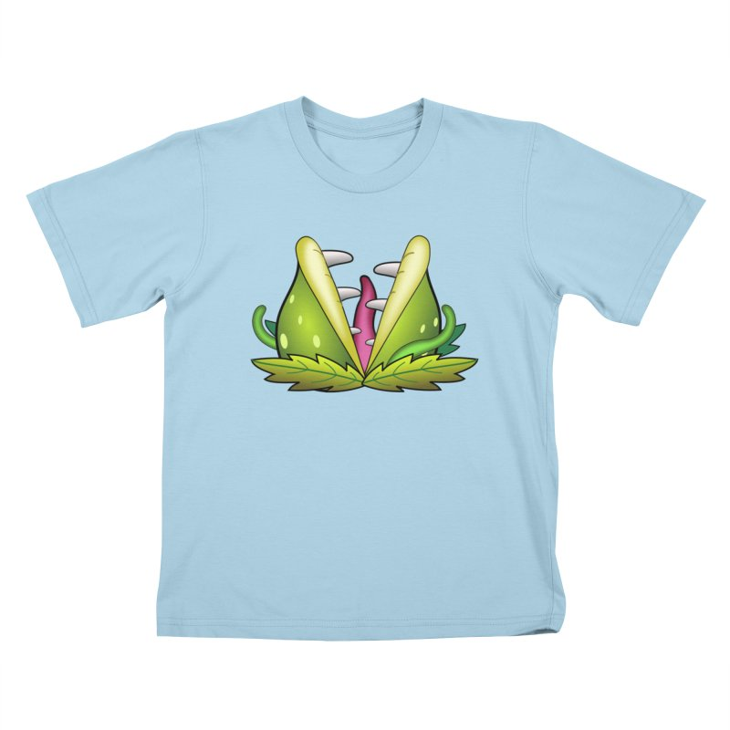 Mario Piranha Plant Kids T-Shirt by Shirt For Brains
