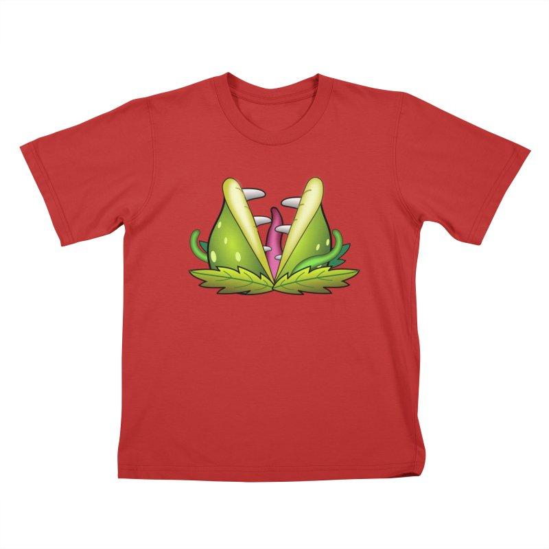 Mario Piranha Plant Kids T-Shirt by Shirt For Brains