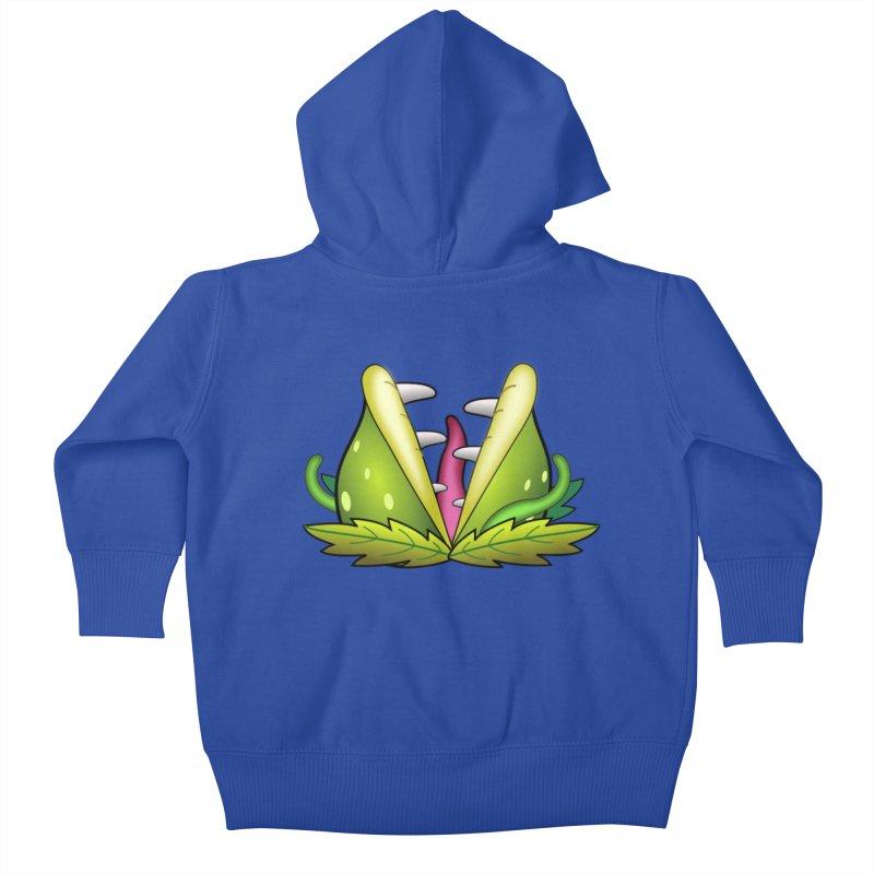Mario Piranha Plant Kids Baby Zip-Up Hoody by Shirt For Brains