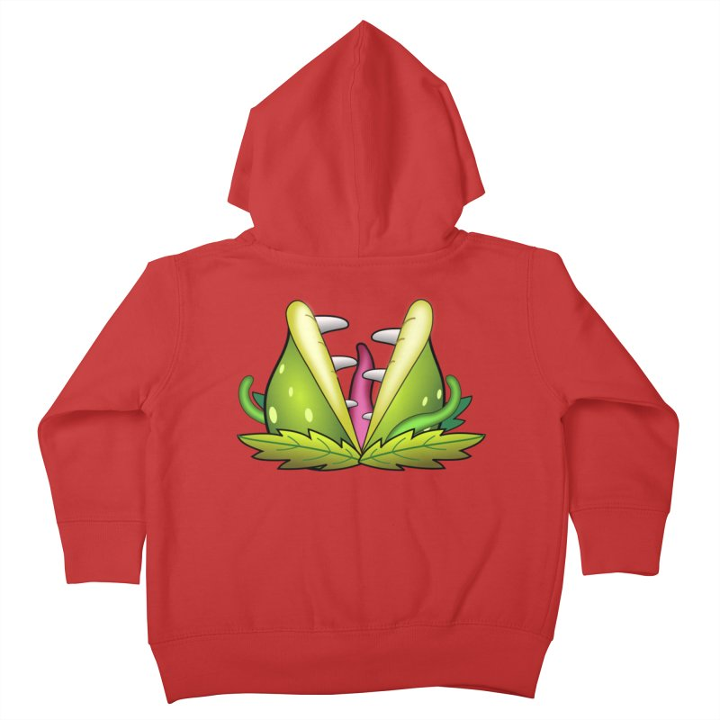 Mario Piranha Plant Kids Toddler Zip-Up Hoody by Shirt For Brains