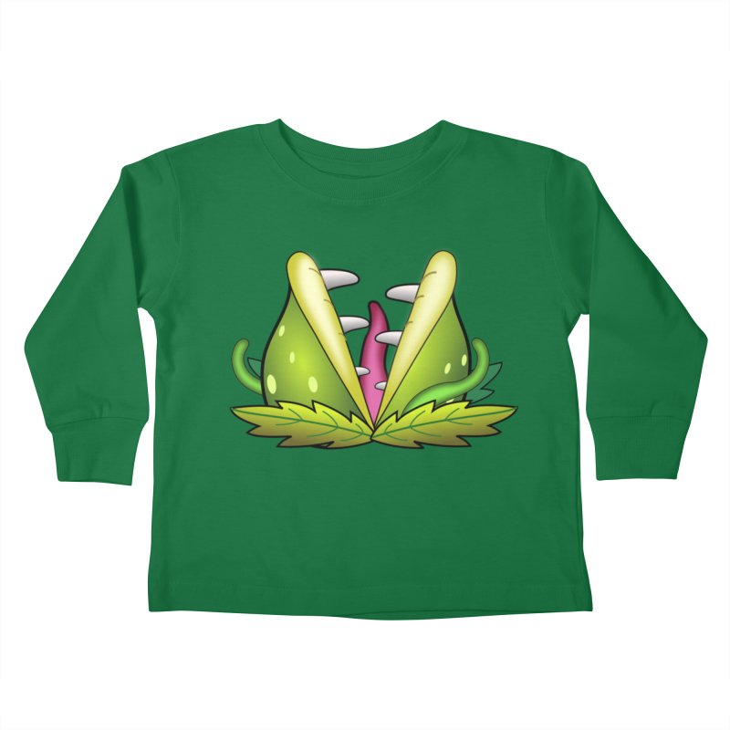 Mario Piranha Plant Kids Toddler Longsleeve T-Shirt by Shirt For Brains