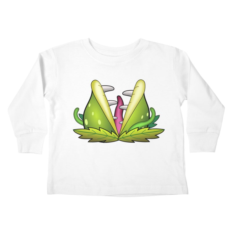 Mario Piranha Plant Kids Toddler Longsleeve T-Shirt by Shirt For Brains