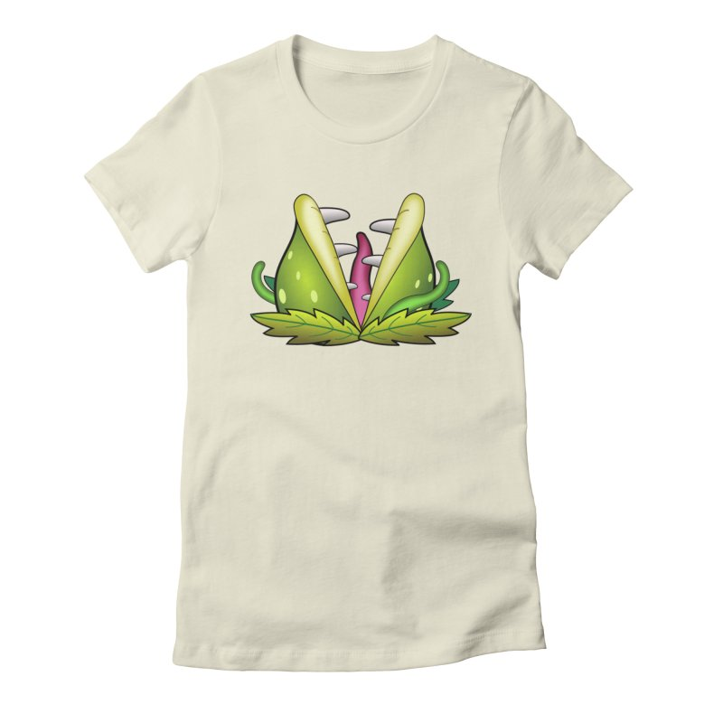 Mario Piranha Plant Women's Fitted T-Shirt by Shirt For Brains