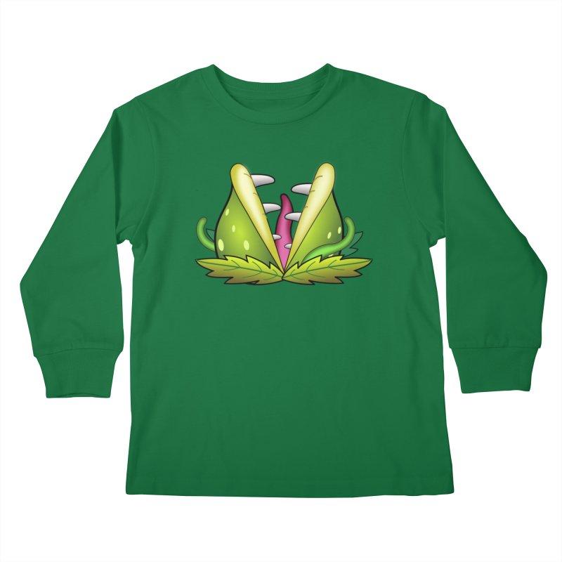 Mario Piranha Plant Kids Longsleeve T-Shirt by Shirt For Brains