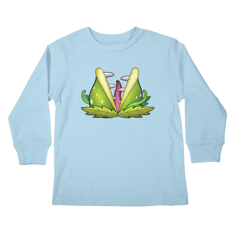 Mario Piranha Plant Kids Longsleeve T-Shirt by Shirt For Brains