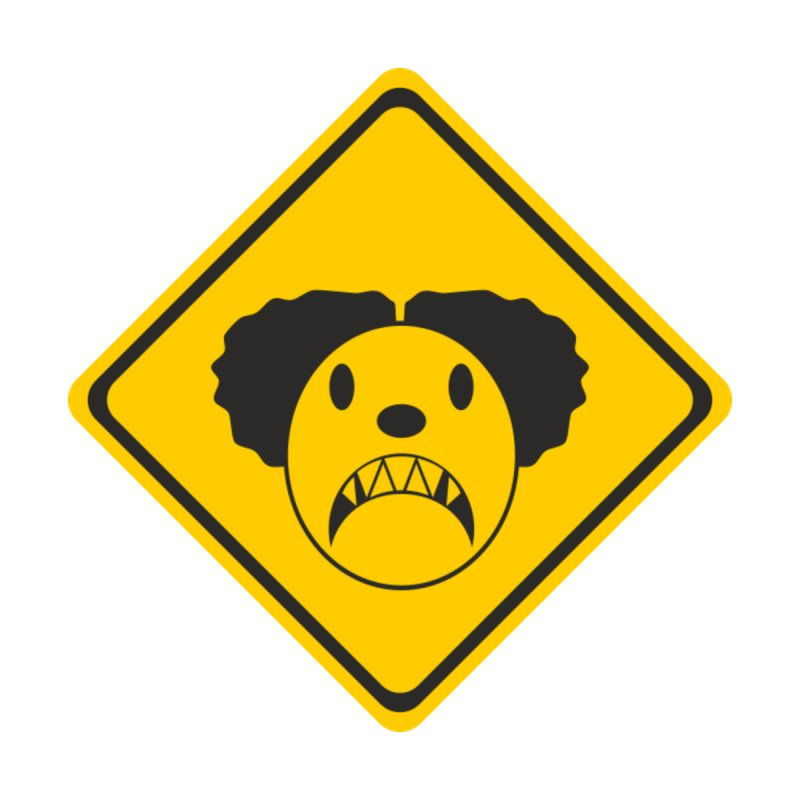Scary Clown Crossing by Shirt For Brains