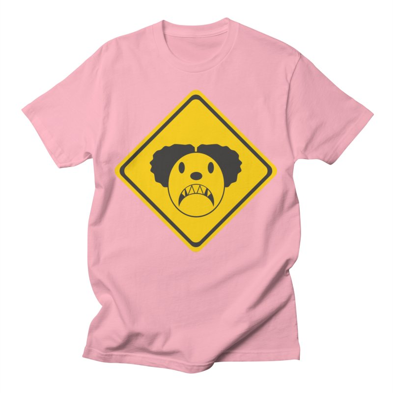 Scary Clown Crossing Men's T-Shirt by Shirt For Brains