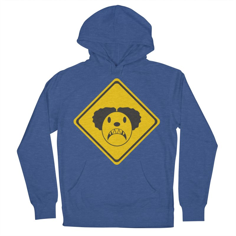 Scary Clown Crossing Men's French Terry Pullover Hoody by Shirt For Brains