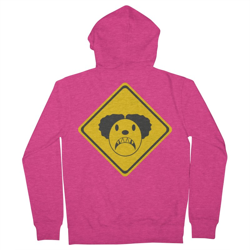 Scary Clown Crossing Women's Zip-Up Hoody by Shirt For Brains