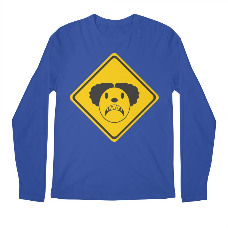 Scary Clown Crossing Men's Regular Longsleeve T-Shirt by Shirt For Brains