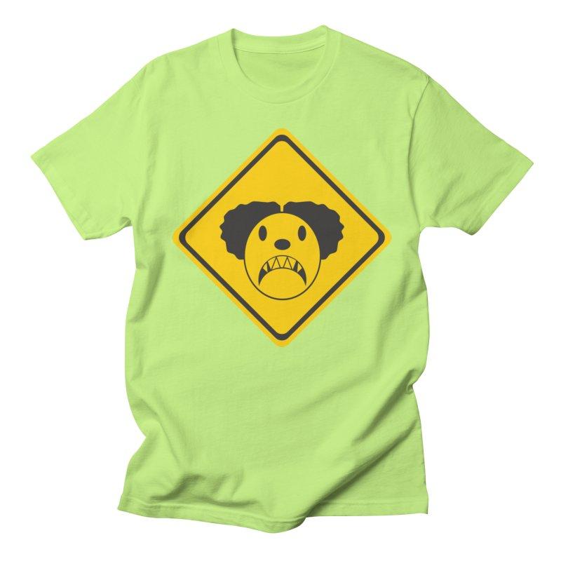 Scary Clown Crossing Men's Regular T-Shirt by Shirt For Brains