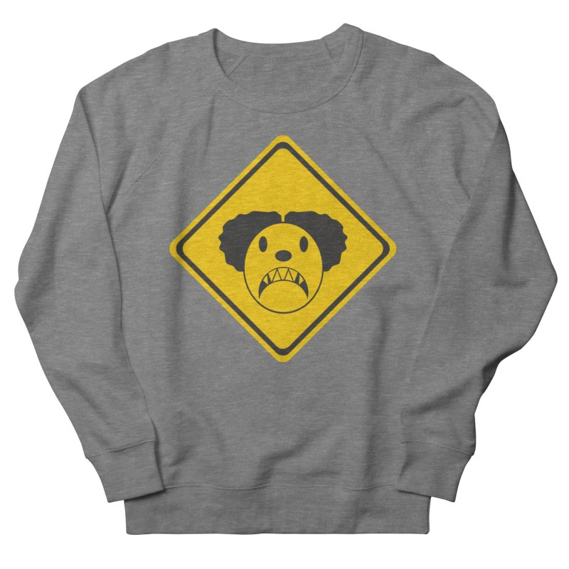 Scary Clown Crossing Women's Sweatshirt by Shirt For Brains