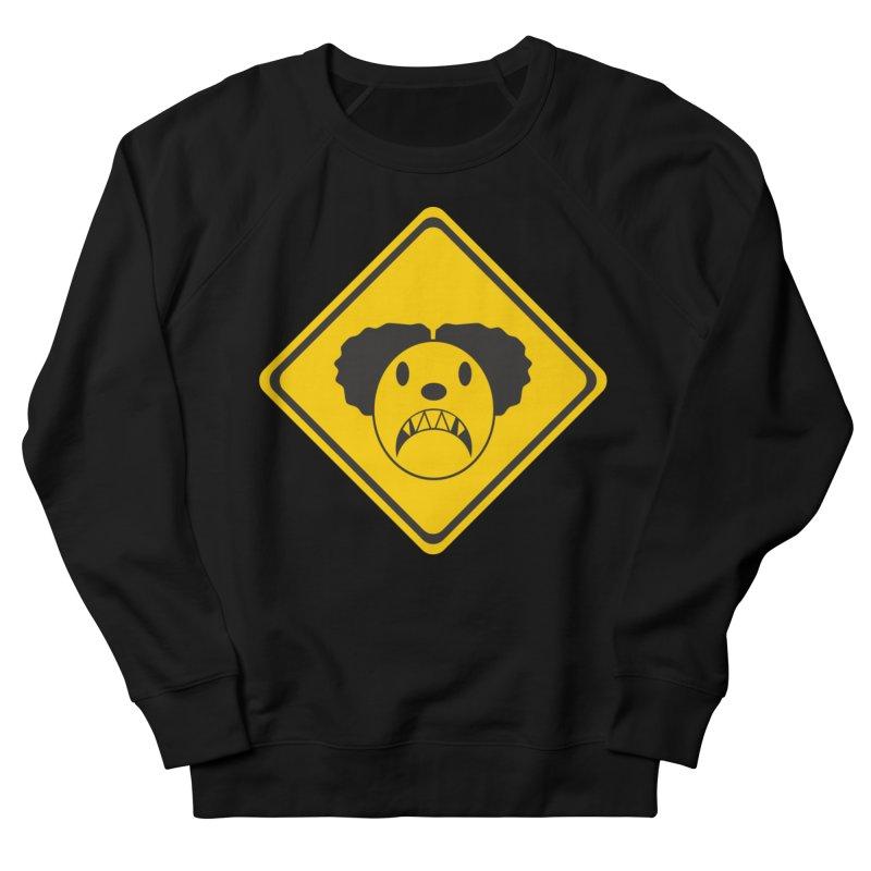 Scary Clown Crossing Women's Sweatshirt by Shirt For Brains