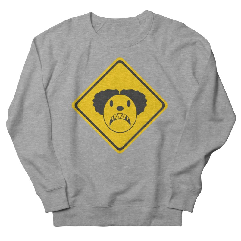 Scary Clown Crossing Men's French Terry Sweatshirt by Shirt For Brains