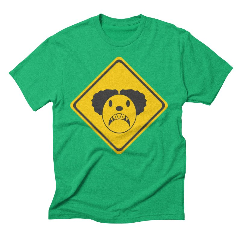 Scary Clown Crossing Men's Triblend T-Shirt by Shirt For Brains