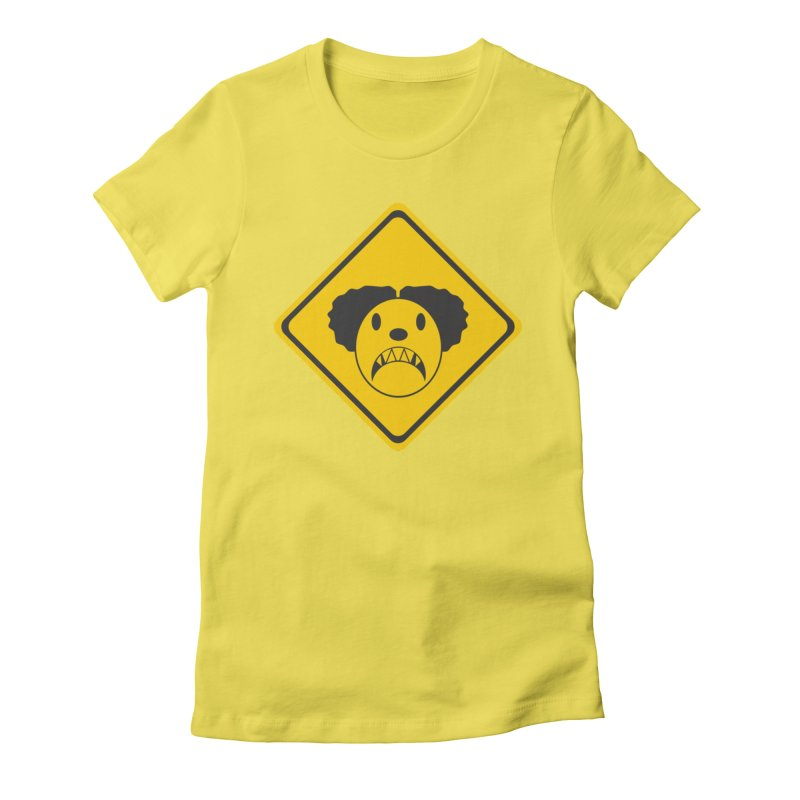 Scary Clown Crossing Women's T-Shirt by Shirt For Brains