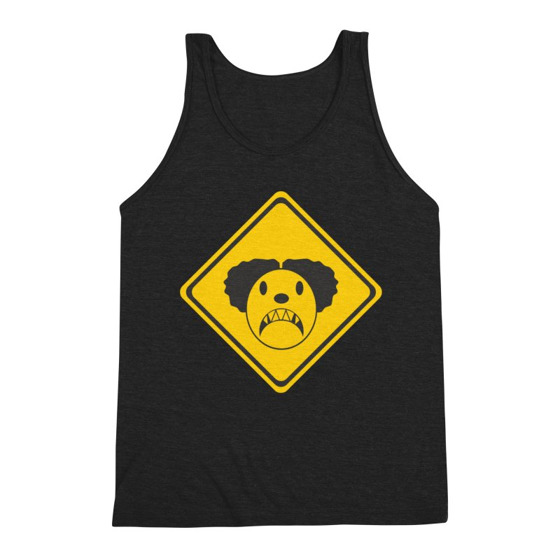 Scary Clown Crossing Men's Tank by Shirt For Brains