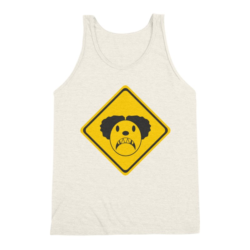 Scary Clown Crossing Men's Triblend Tank by Shirt For Brains
