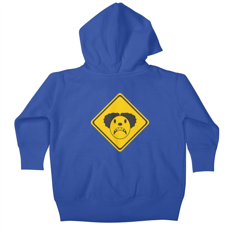 Scary Clown Crossing Kids Baby Zip-Up Hoody by Shirt For Brains