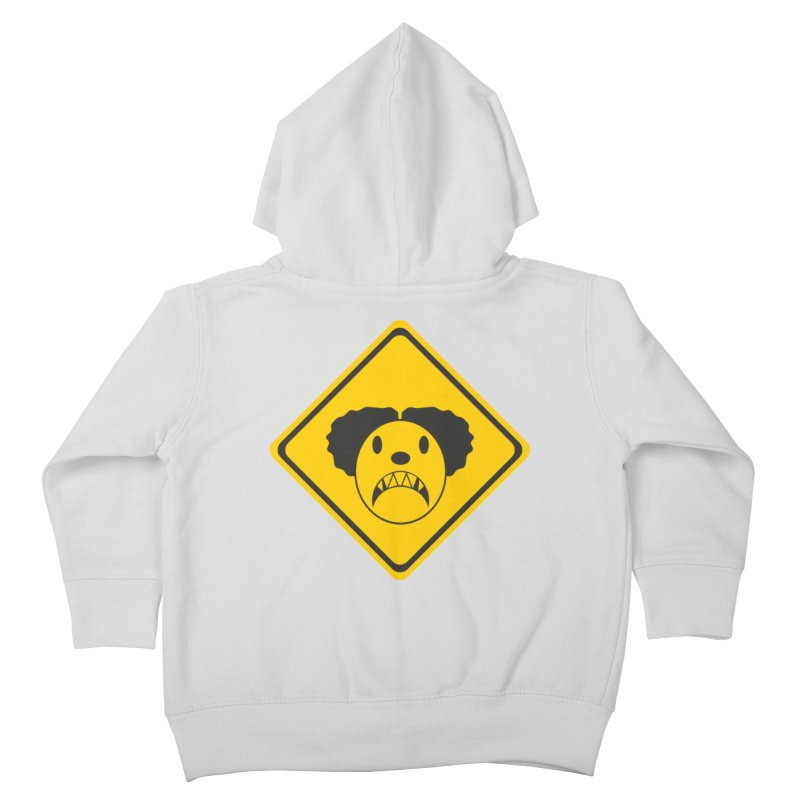 Scary Clown Crossing Kids Toddler Zip-Up Hoody by Shirt For Brains