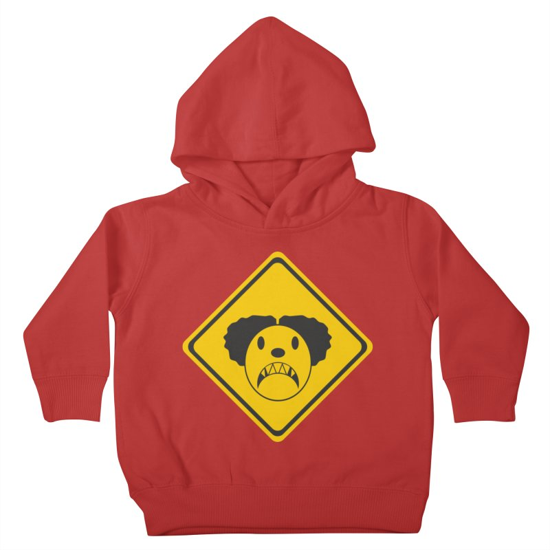 Scary Clown Crossing Kids Toddler Pullover Hoody by Shirt For Brains