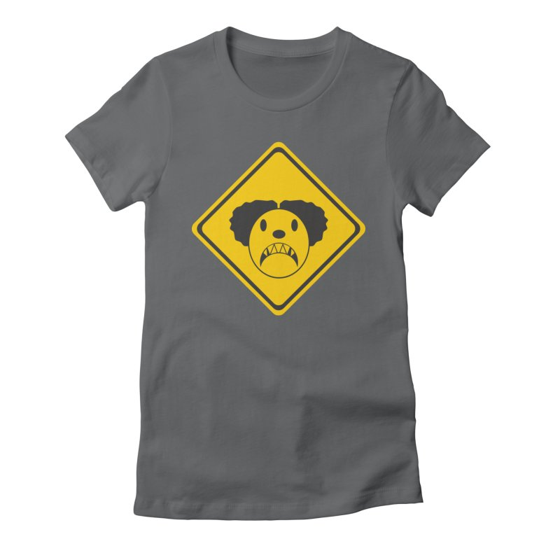 Scary Clown Crossing Women's Fitted T-Shirt by Shirt For Brains