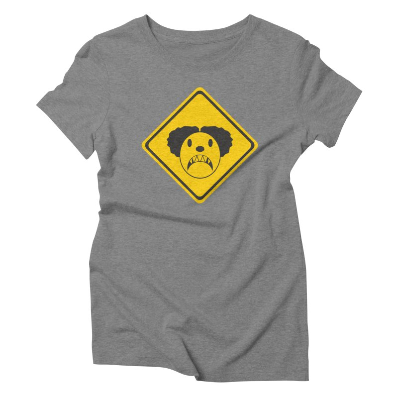 Scary Clown Crossing Women's Triblend T-Shirt by Shirt For Brains