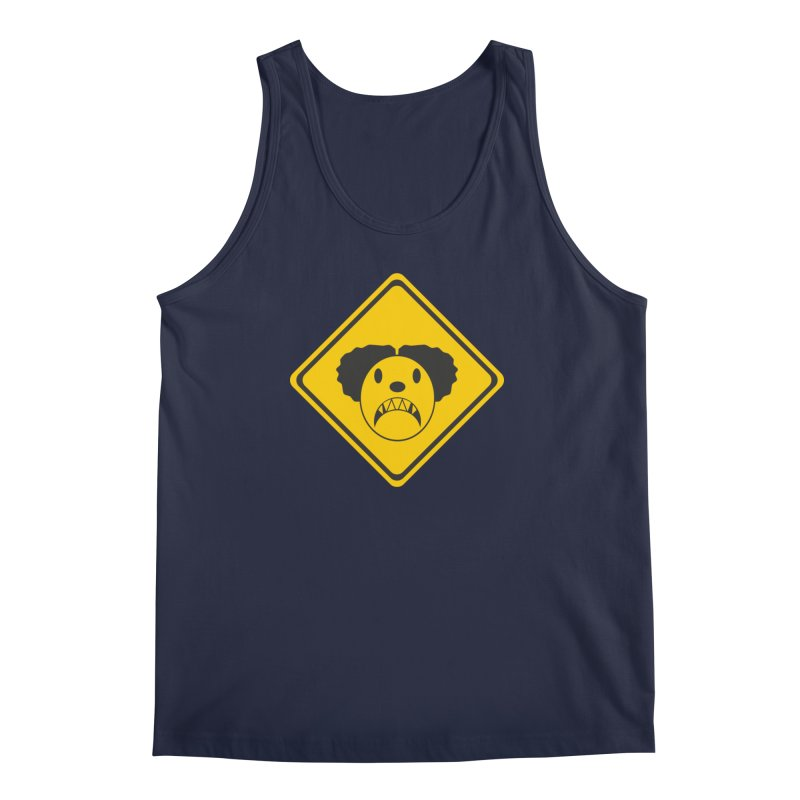 Scary Clown Crossing Men's Regular Tank by Shirt For Brains
