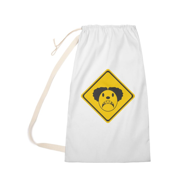 Scary Clown Crossing Accessories Laundry Bag Bag by Shirt For Brains