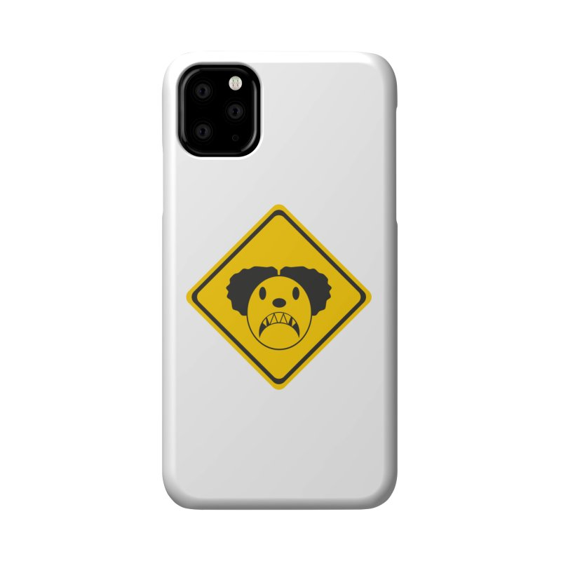 Scary Clown Crossing Accessories Phone Case by Shirt For Brains