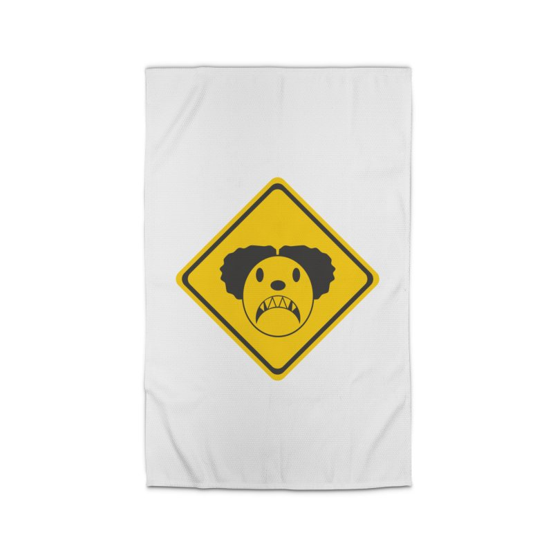 Scary Clown Crossing Home Rug by Shirt For Brains