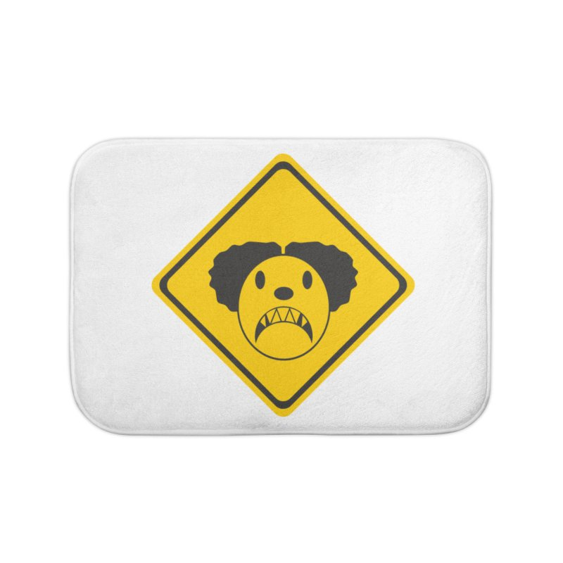 Scary Clown Crossing Home Bath Mat by Shirt For Brains