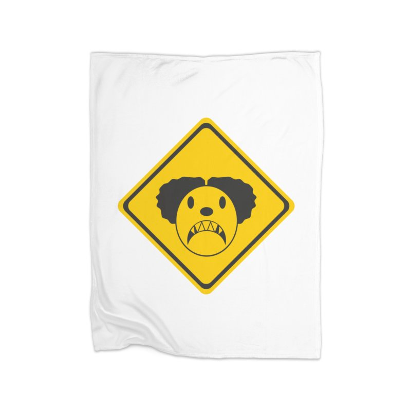 Scary Clown Crossing Home Blanket by Shirt For Brains