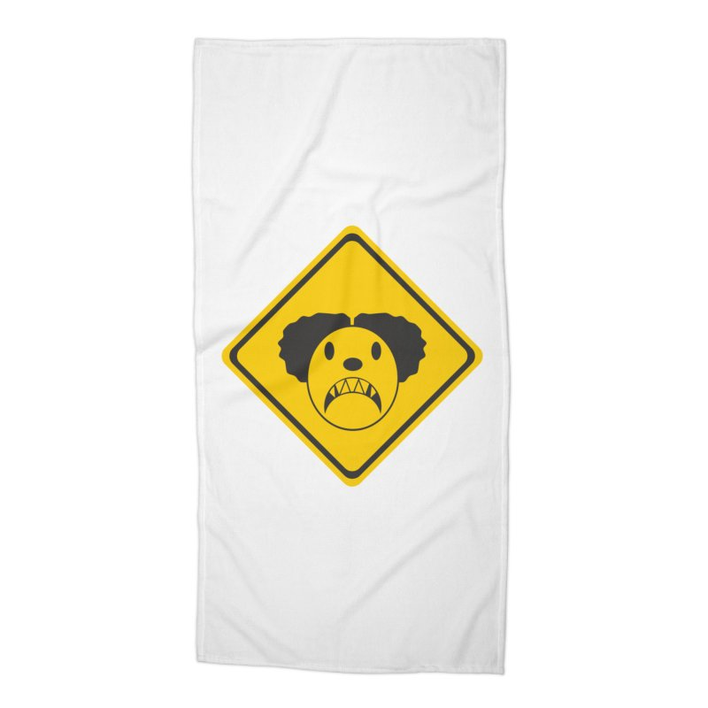 Scary Clown Crossing Accessories Beach Towel by Shirt For Brains