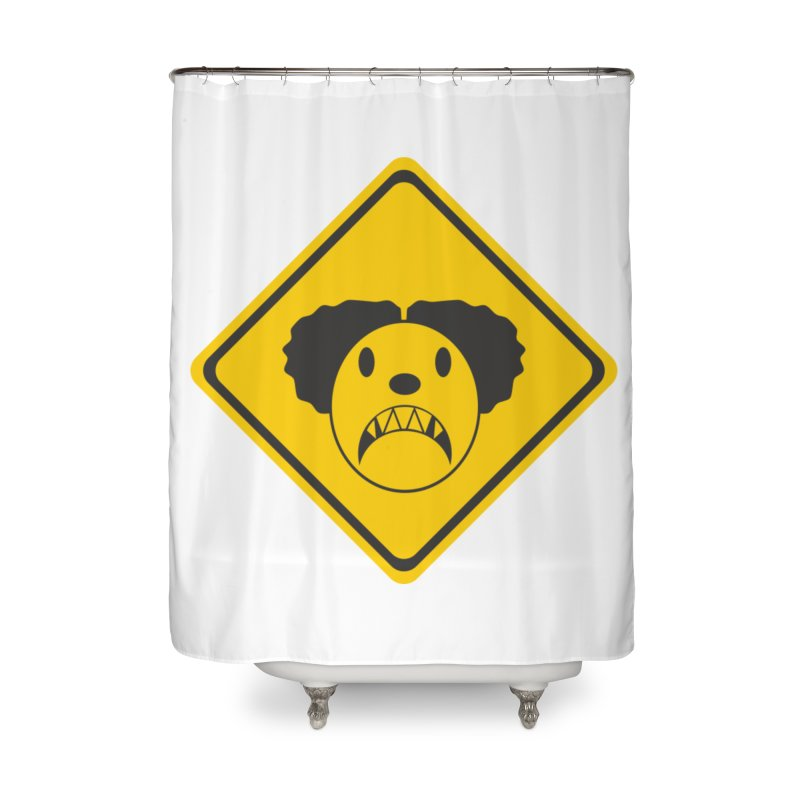 Scary Clown Crossing Home Shower Curtain by Shirt For Brains