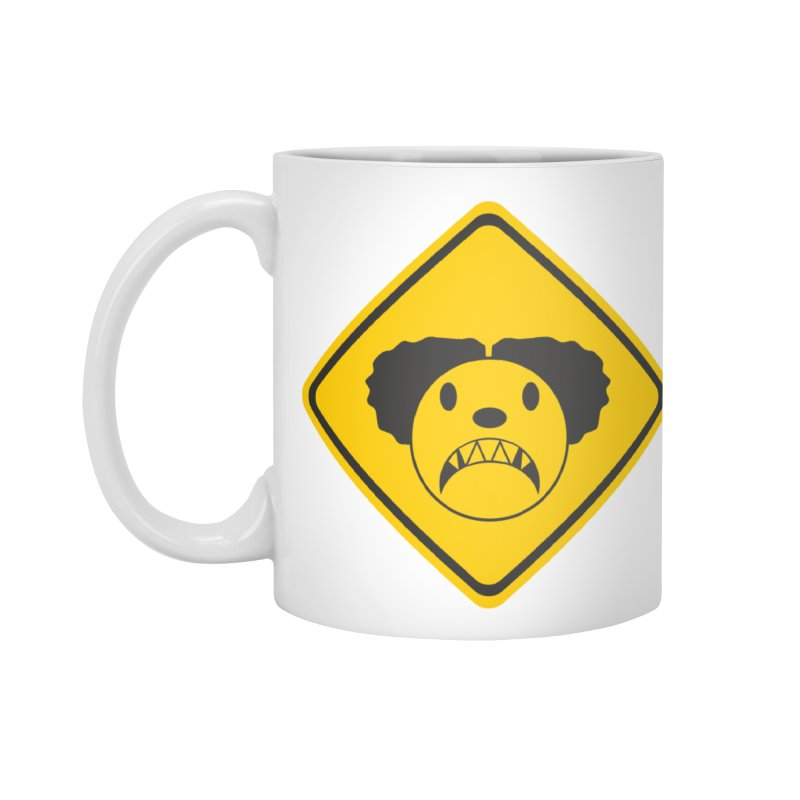 Scary Clown Crossing Accessories Standard Mug by Shirt For Brains