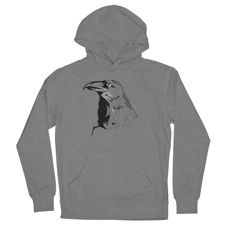 Crow Headshot Women's Pullover Hoody by Shirt For Brains