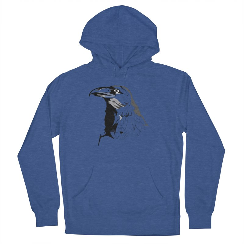 Crow Headshot Men's Pullover Hoody by Shirt For Brains