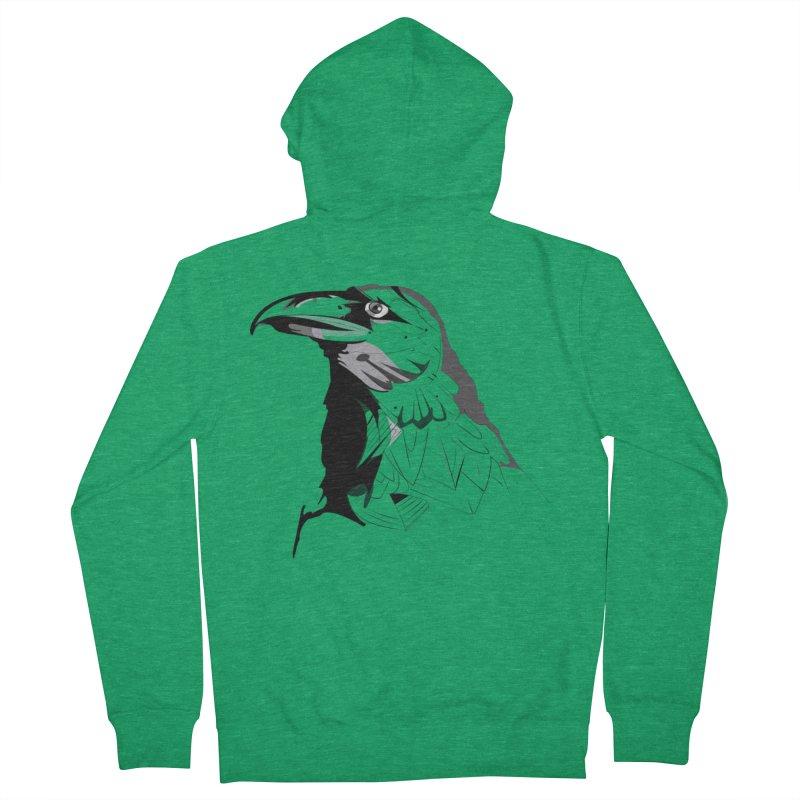 Crow Headshot Women's Zip-Up Hoody by Shirt For Brains