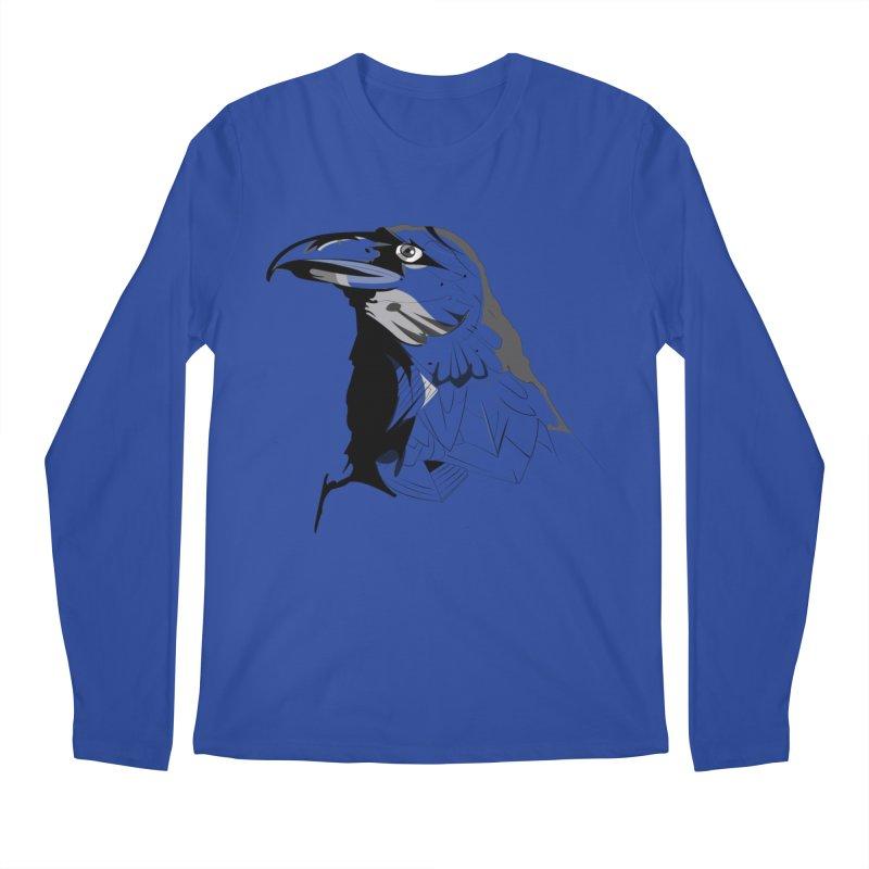 Crow Headshot Men's Longsleeve T-Shirt by Shirt For Brains