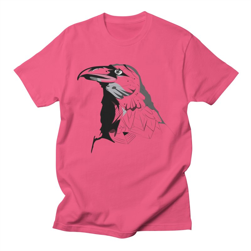 Crow Headshot Men's T-Shirt by Shirt For Brains
