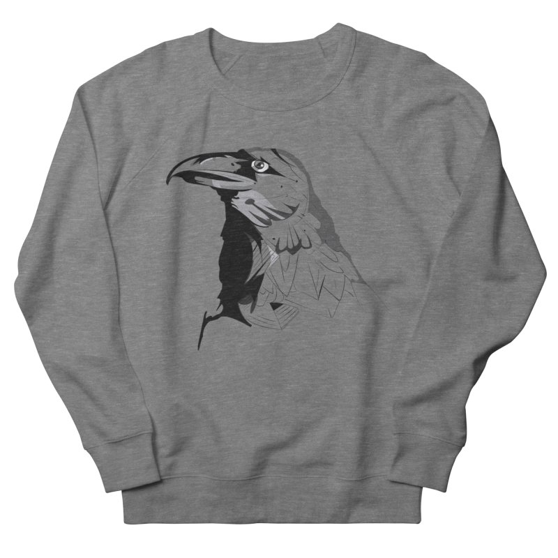 Crow Headshot Men's Sweatshirt by Shirt For Brains