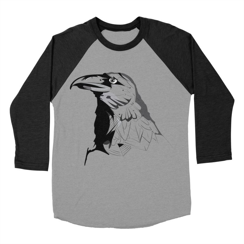 Crow Headshot Men's Baseball Triblend Longsleeve T-Shirt by Shirt For Brains