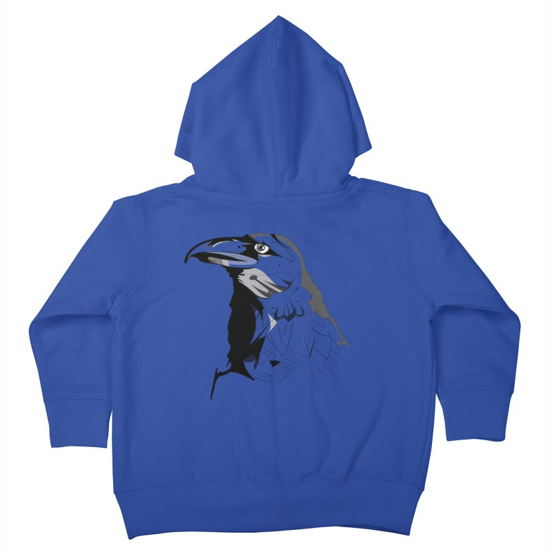 Crow Headshot Kids Toddler Zip-Up Hoody by Shirt For Brains